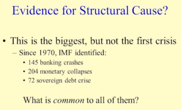 1970 Till 2007 Recession IMF documented 421 crises