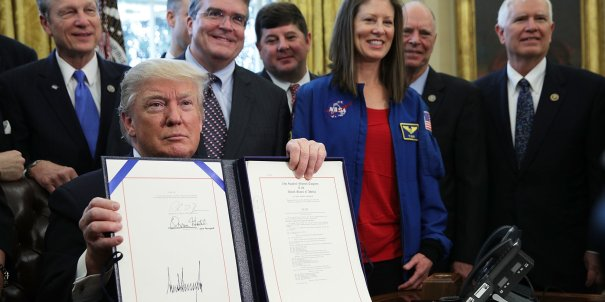 Donald Trump Signs Bill Authorizing NASA Budget, Mars Exploration