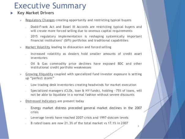 Executive Summary, showing engineered crises