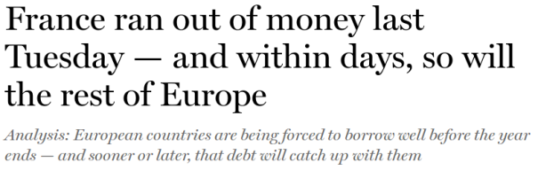 France ran out of money!