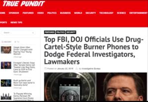 Rogue FBI and DOJ upper-management officials acting like criminal drug lords!