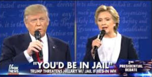 """Trump's Popular Campaign Promise: """"Lock Her Up"""" means Hillary Jail is going to prison."""