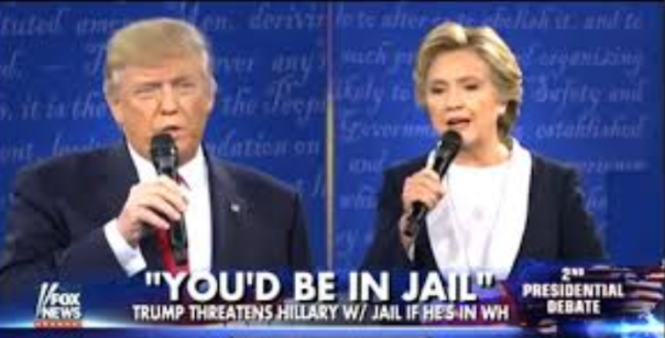 "Trump's Popular Campaign Promise: ""Lock Her Up"" means Hillary Jail is going to prison."