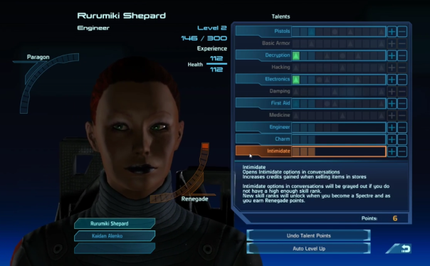 Mass Effect game The hero Commander Shepard becomes a engineer!