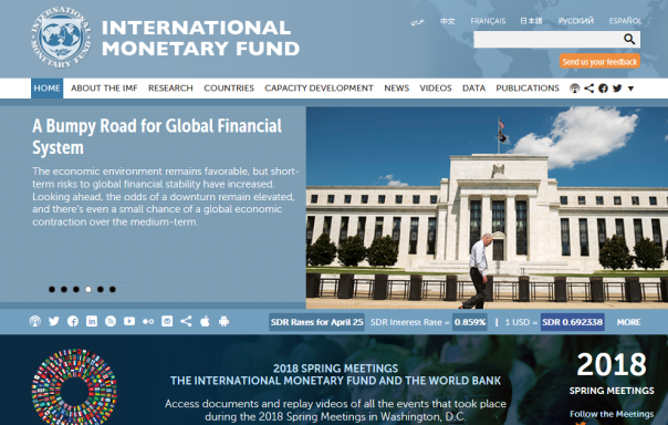25 April 2018 the International Monetary Fund posted this on their website.