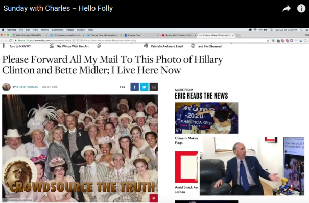"""""""Please Forward All My Mail To This Photo of Hillary Clinton and Bette Midler; I Live Here Now"""" By R. Eric Thomas Jul 27, 2018"""