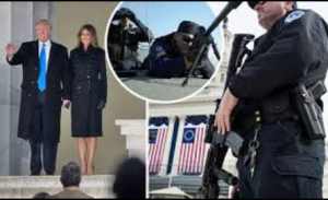 Trump Washington inauguration surrounded by snipers for 100 BLOCKS