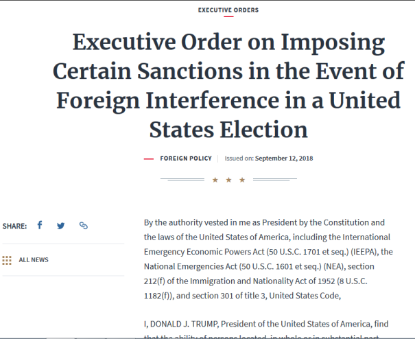 A very dangerous focal point for opposing factions is the 2018 'Mid-Term Elections'. Trump's EO is a warning!