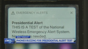 Curious event: 3 Oct. 2018, Presidential alert sent to smart phones