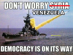 U.S. claims Democracy On Its Way to Venezuela!