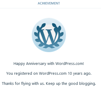 Wordpress ten year achievement